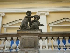 Puławy Element ozdobny Pałacu Czartoryskich fot. K. Siek