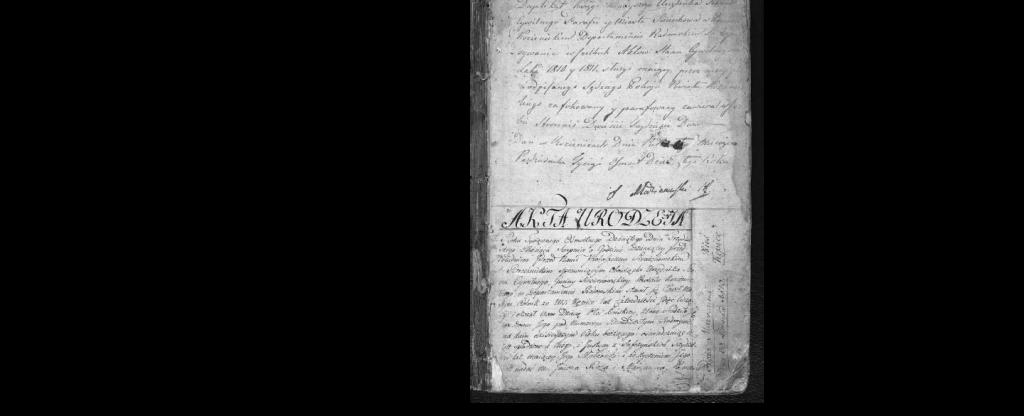Akta urodzin 1810- 11