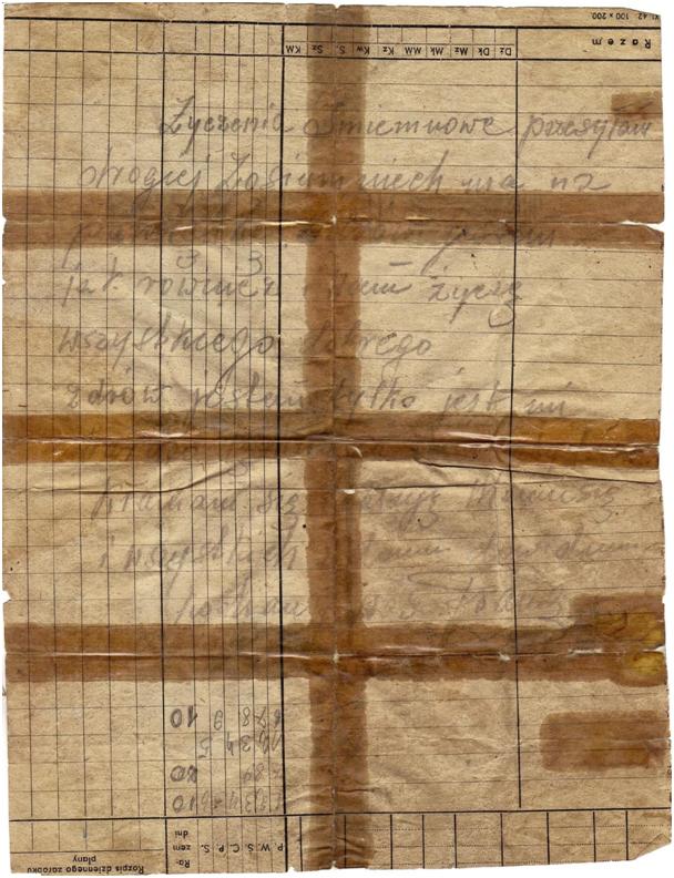 List Dziadka