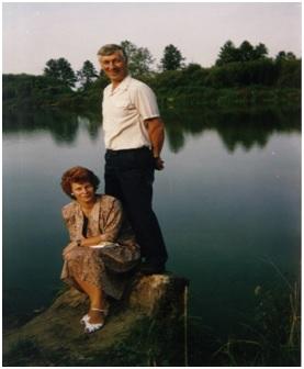 Stefan i Teresa nad jeziorem